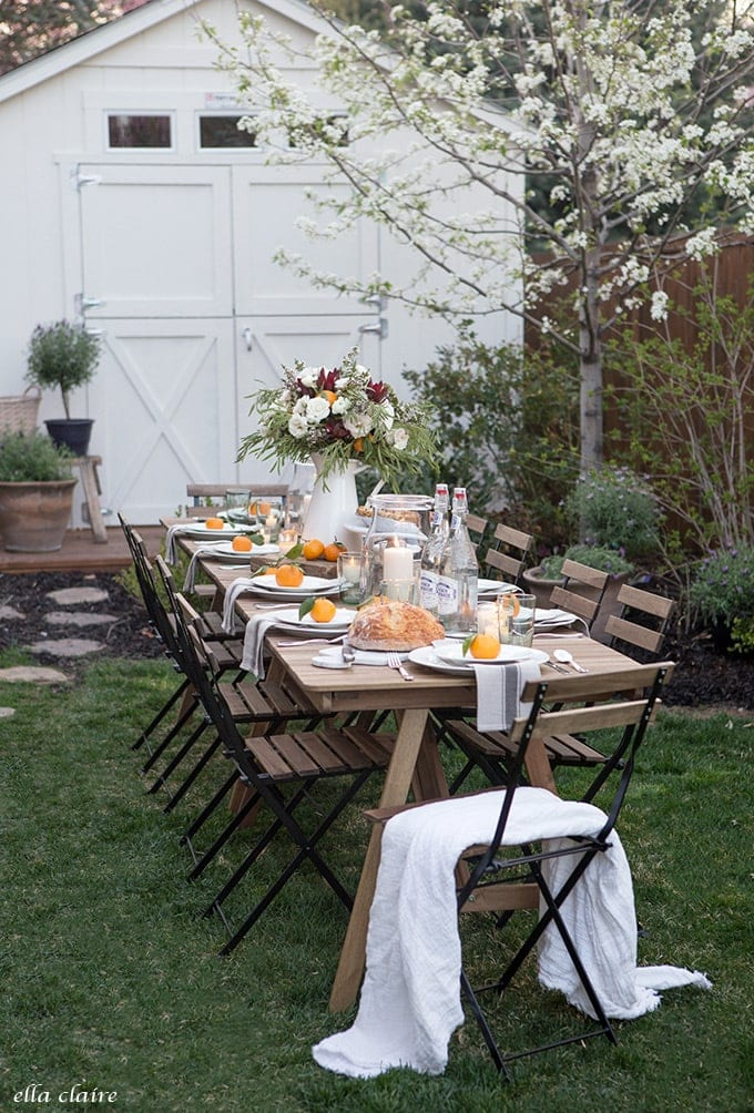 Simple Outdoor Entertaining for beautiful Summer evenings