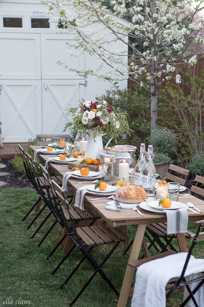 Simple ideas for effortless outdoor entertaining