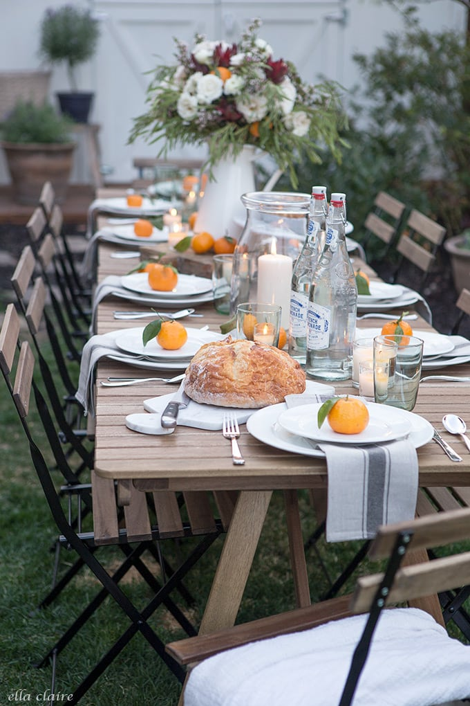Family friendly Simple Outdoor Entertaining using things we keep on hand