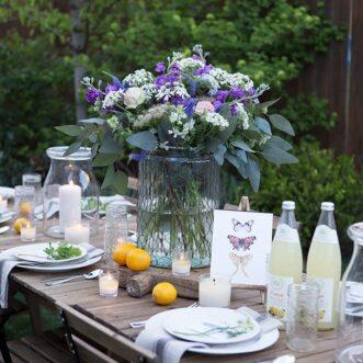 Garden Flowers Tablescape