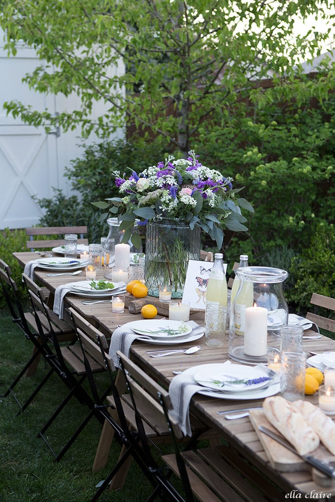 Garden themed entertaining for Mother's day