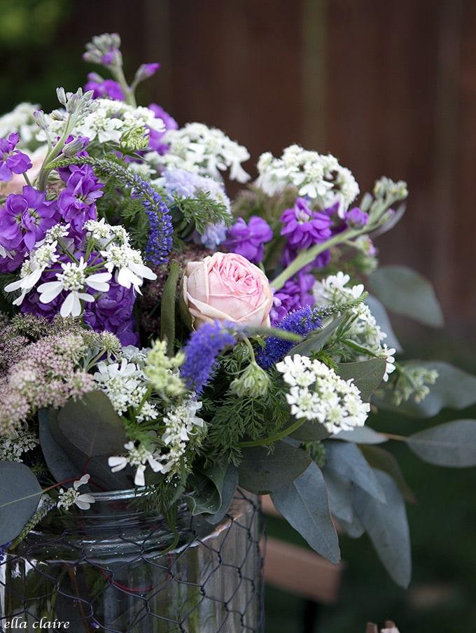 simple and sweet garden flower arrangement