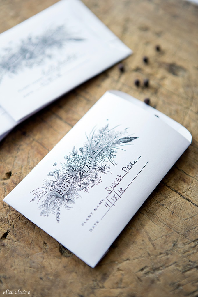 Free Printable Vintage Seed Packet