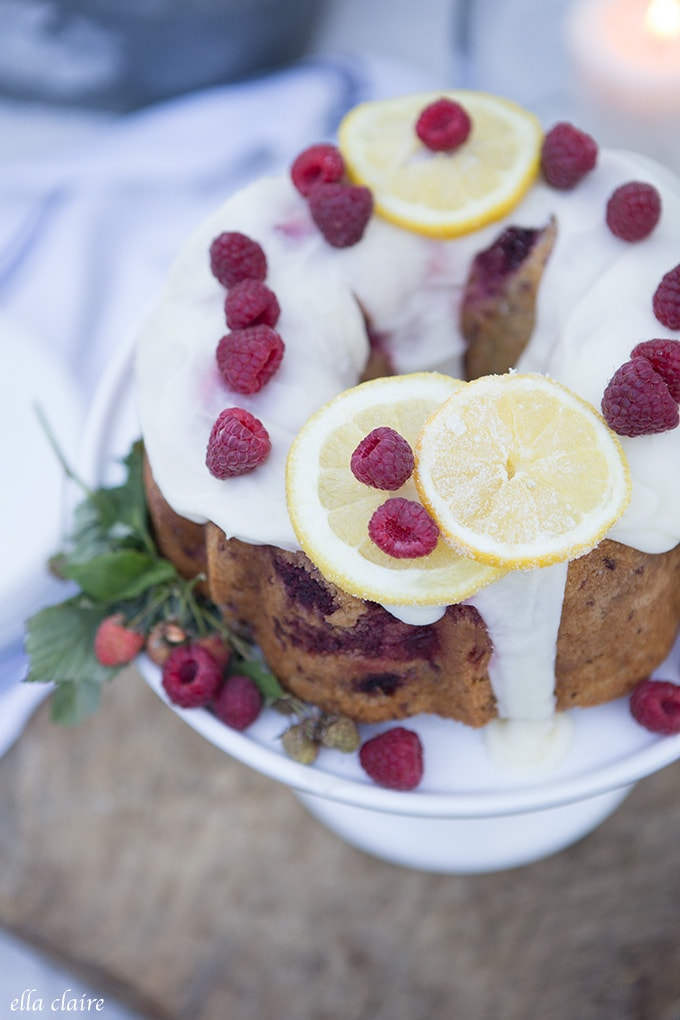 Whip up this Raspberry cake with lemon icing as the perfect dessert for your get togethers.