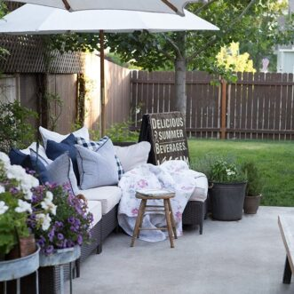 Simple Summer Patio Entertaining