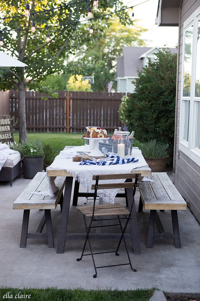 Create A Quick And Simple Tablescape For Summer Outdoor Entertaining.