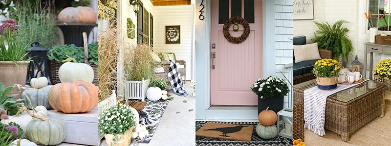 , Farmhouse Fall Porch Steps