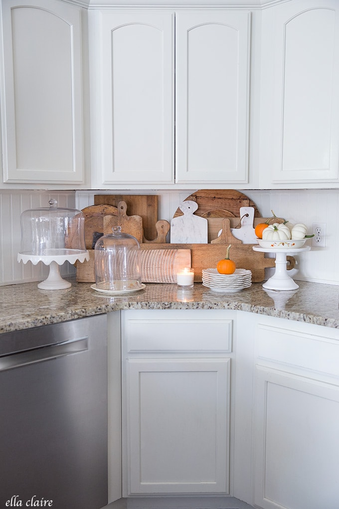 warm cozy bread board collection accents this fall kitchen
