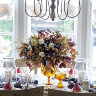 Warm Fall Tablescape | Budget Friendly