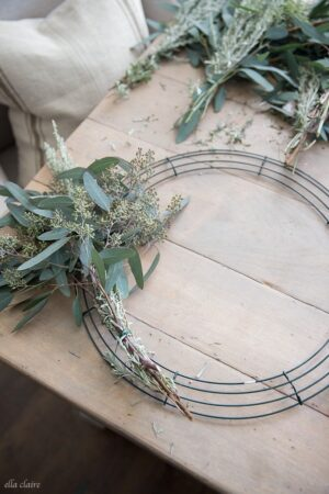 How to make a DIY Eucalyptus Wreath- an easy tutorial for a beautiful fresh wreath