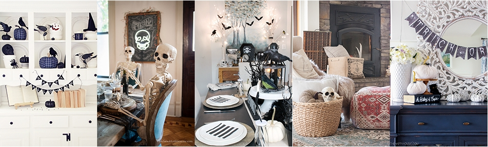 25 Halloween Home Tours with tons of creative decorating ideas kellyelko.com #halloween #halloweendecor #halloweendecorating #falldecor #falldecorating