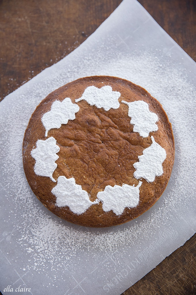 3 easy DIY fall cake stencils make a warm and beautiful decoration and dessert.