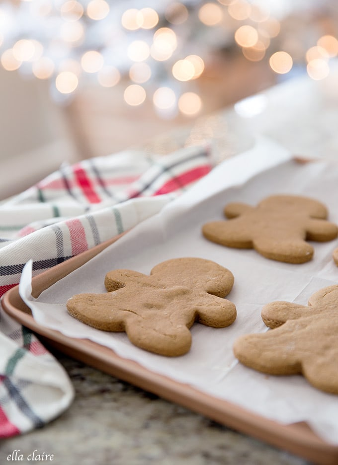 Baking these soft gingerbread cookies is the perfect way to celebrate the holiday season.