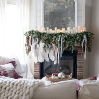 Full + Beautiful DIY Christmas Mantel Garland