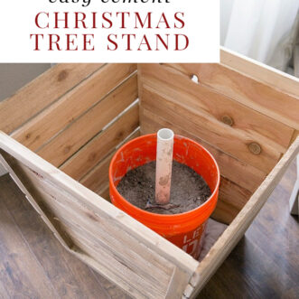 DIY cement Christmas tree stand