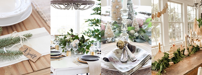 Christmas table settings poster.