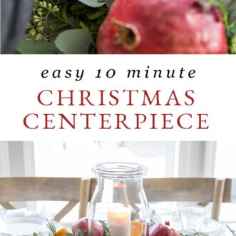easy 10 minute Christmas centerpiece