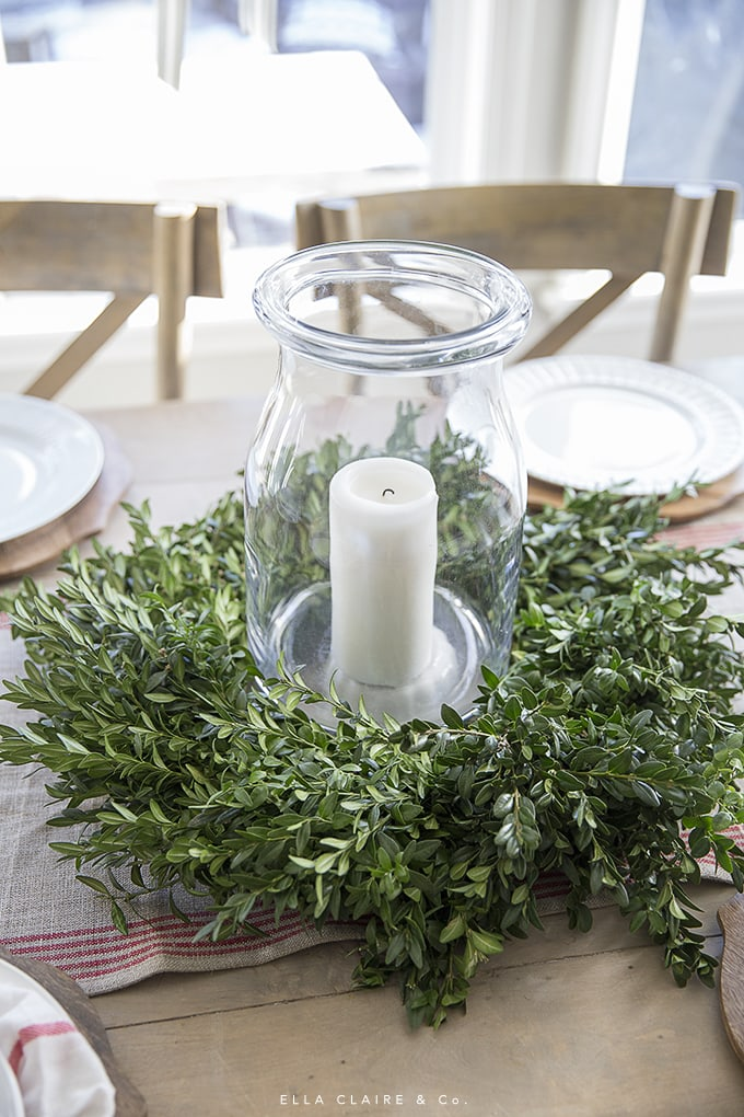 DIY Centerpiece using a simple inexpensive wreath as a base