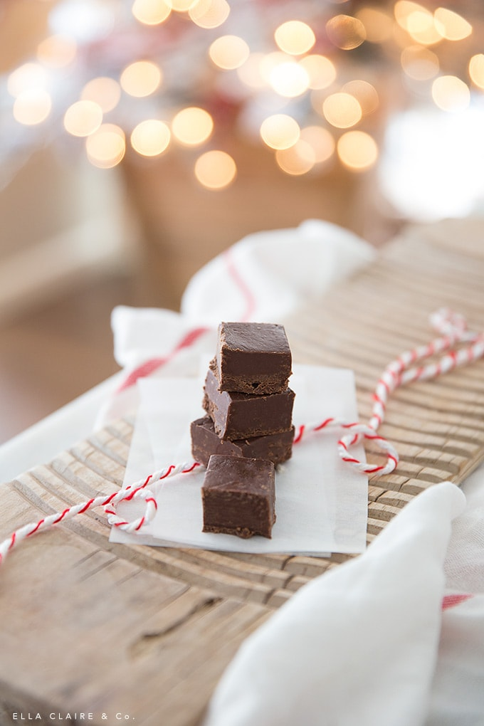 4 minute delicious microwave fudge- the perfect easy Christmas treat for parties and neighbor gifts