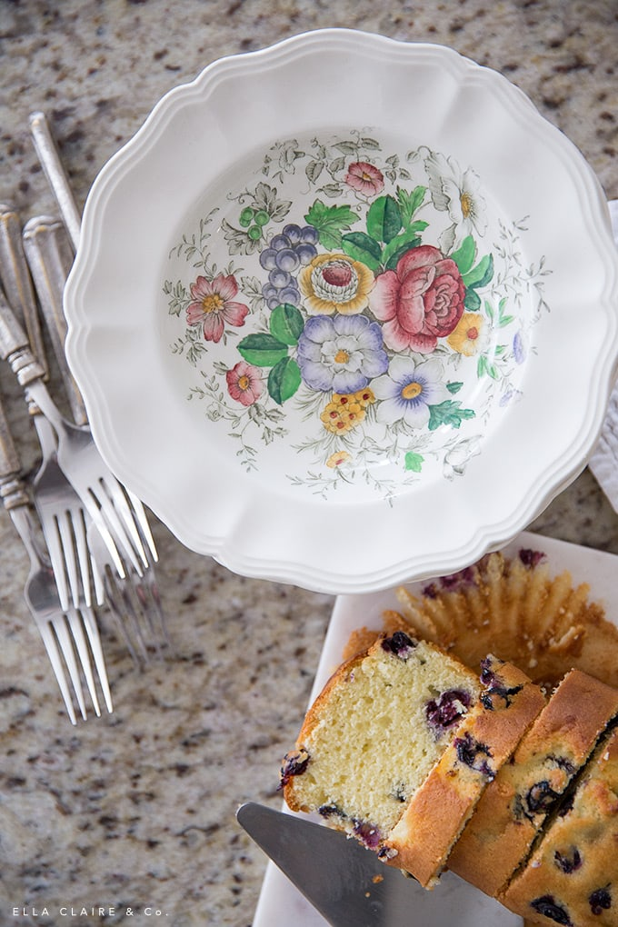 antique floral dishes are perfect for entertaining and casual spring or Easter treats adding color and vintage charm.