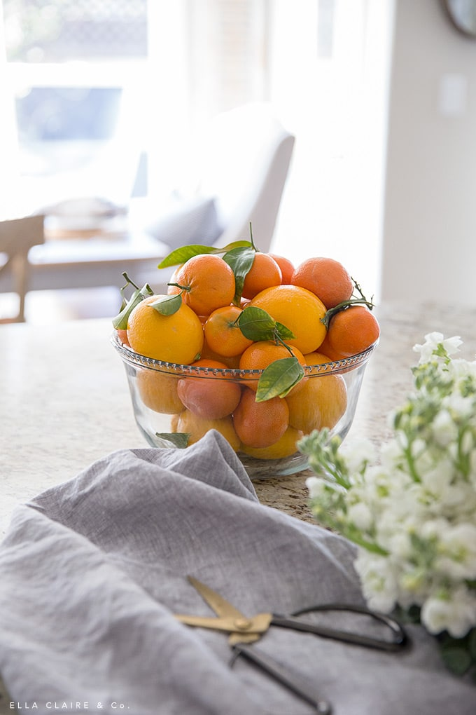 A bowl of Meyer lemons and fresh oranges is a beautiful centerpiece in the Spring- and bonus- its edible too!
