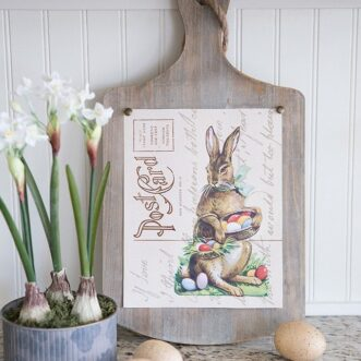 Free Printable Easter Bunny Postcard Art