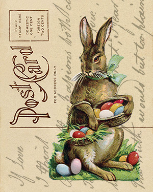 Free Printable Easter Postcard Art