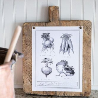 Free Printable Vintage Vegetables Art
