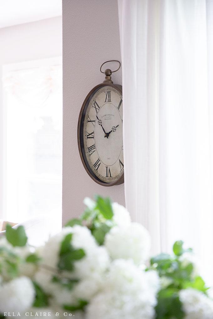 Budget friendly clock- simple French farmhouse decor ideas