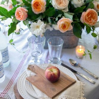 Peach Harvest Tablescape