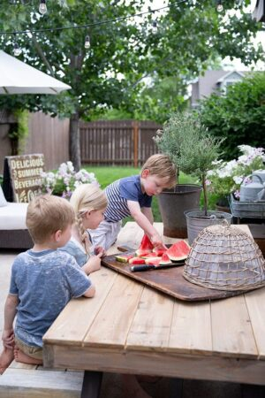 Nothing says summer like fresh delicious watermelon, and we eat it almost daily for our barbecues and everyday dinners. The kids love the sweet treat during the hot weather.