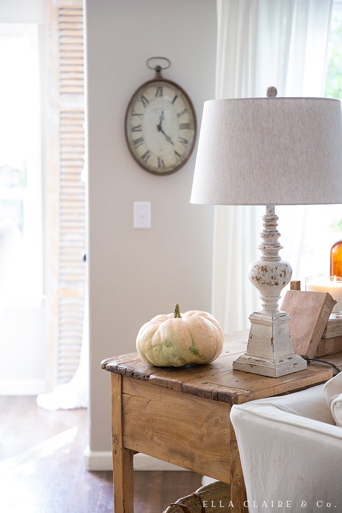 A simple heirloom cinderella pumpkin is cute on its own as a decor idea