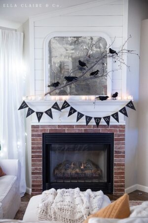 """A free printable """"Happy Halloween"""" banner for decorating your home or party this season"""