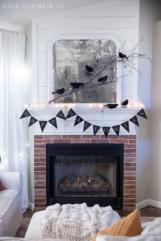 "A free printable ""Happy Halloween"" banner for decorating your home or party this season"