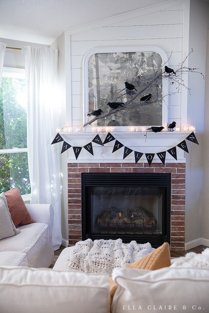 Use this Free Printable Happy Halloween banner on your mantel, a focal wall in your home, or use it to decorate for a costume party! It is classic and simple and so versatile!
