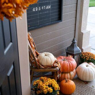 Warm Autumn Porch