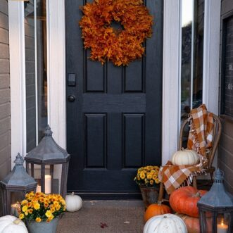 Preserved Leaf Fall Wreath
