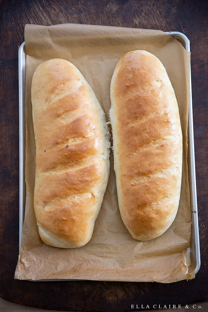 Make this delicious and easy homemade French bread tonight with your favorite soup, salad, or dinner. It is actually really easy to make, tastes amazing and stays fresh for several days!