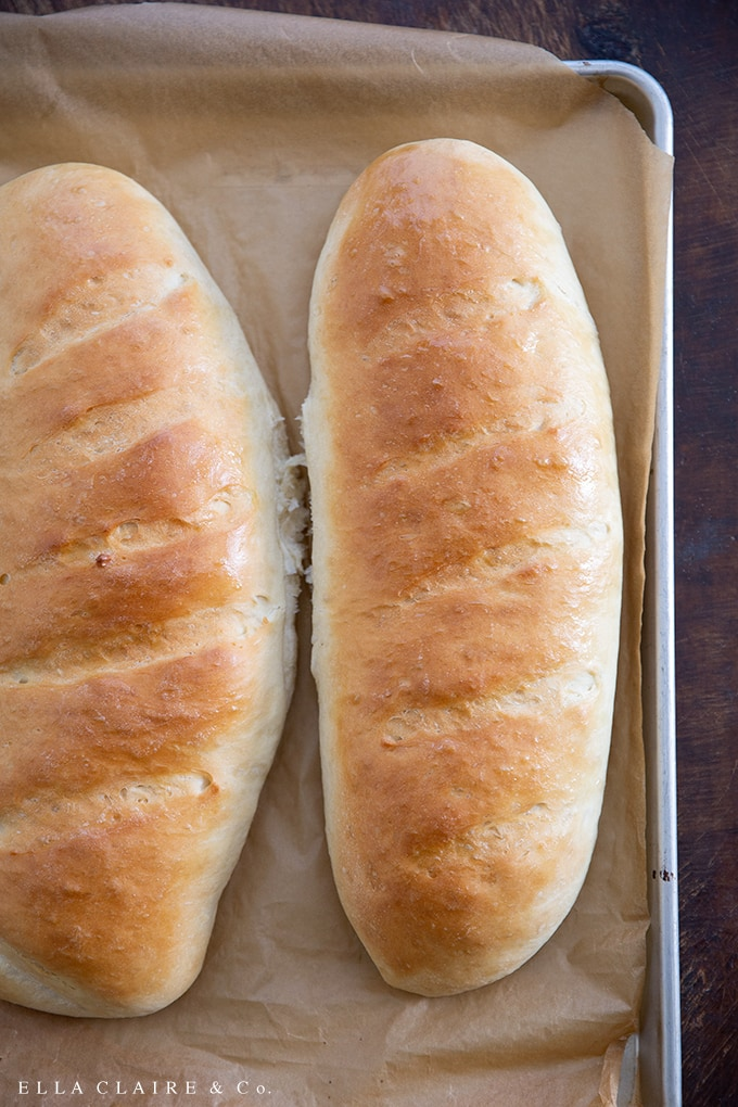 Super easy to make and delicious, this homemade french bread recipe stays fresh for several days and pairs with any dinner for a hearty and filling meal.