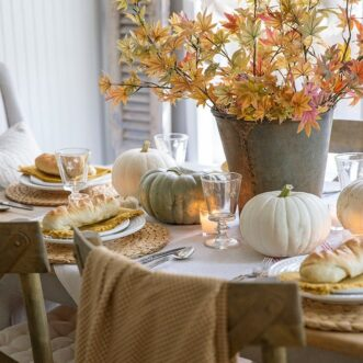 Golden Yellow Fall Tablescape