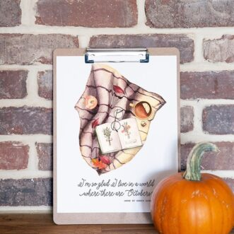 Cozy Fall Watercolor Printables