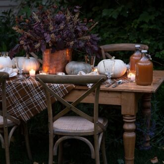 Rich Warm Tone Fall Entertaining