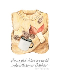 Cozy Autumn Sweater free printable