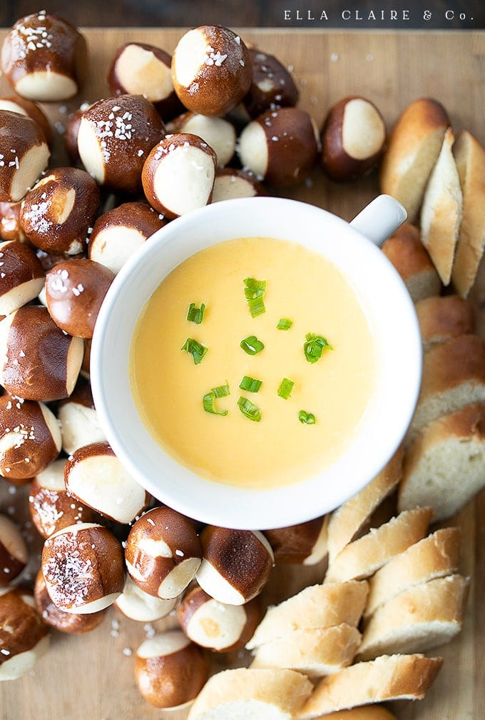 Warm Cheddar Cheese Sauce Ella Claire