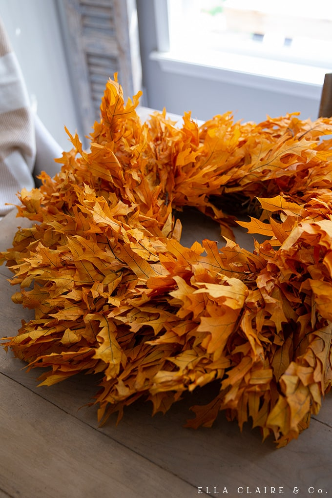How to create this full and lush DIY preserved leaf fall wreath
