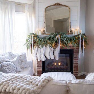 Traditional Christmas Family Room