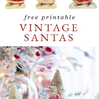 free printable vintage Santa Claus pictures