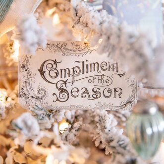 Free Printable Vintage Compliments of the Season Cards