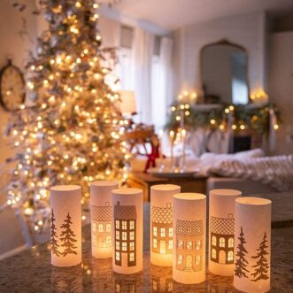 Christmas Village Luminaries
