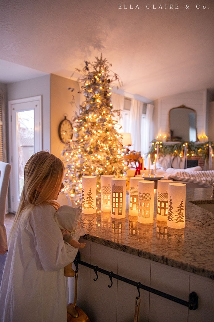 A magical home for the holidays with free printable luminaries